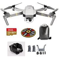 DJI Mavic Pro Platinum with Remote Controller - Bundle With DJI Hard Case Backpack, FS Labs Heightened Landing Gear, FS Labs Sunhood, 32GB Micro SDHC Card, ExpoImaging 32 FlatHat Collapsible Pad