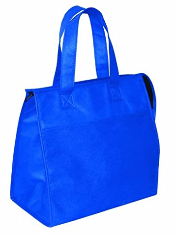 Non Woven Insulated Grocery Cooler Tote Bag, Royal Blue by BAGS FOR LESS™ - Multi Purpose Insulated Tote