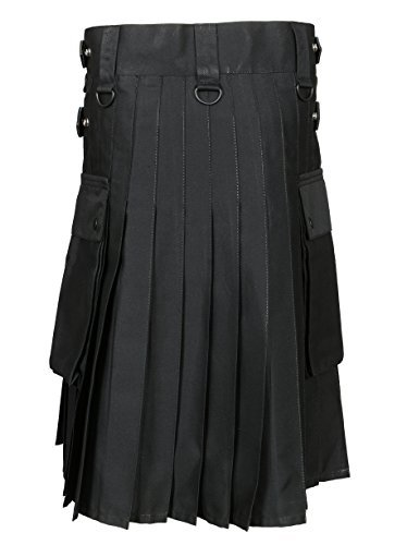 Men 's Black Utility Kilt (Belly Button Measurements 36)
