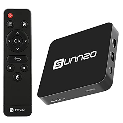 SUNNZO MINI 4K Android 5.1 TV Box 1080P 3D with Wifi 2.4G Bluetooth Built Streaming Media Player