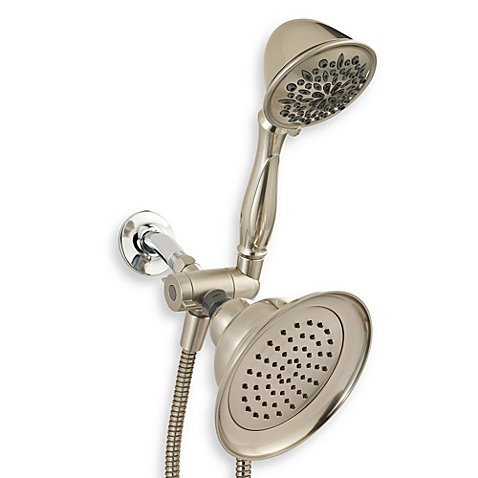 Delta Six-Spray Combo Showerhead in Satin Nickel with Pause Feature (Shower Satin Nickel Rub)