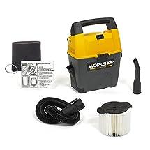 WORKSHOP Wet Dry Vac WS0300VA Portable Wet Dry Vacuum Cleaner, 3-Gallon Small Shop Vacuum Cleaner, 3.5 Peak HP Portable Vacuum