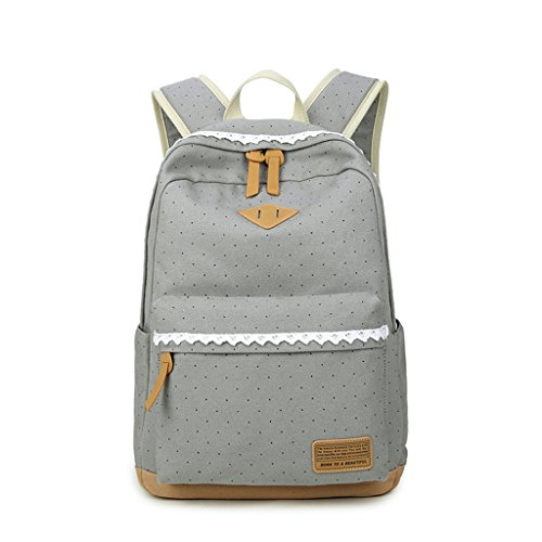 Blue Girls School Bookbags Dabixx Backpacks Lightweight Gray For Canvas Light Lake Cute Teen tvFvgxq8pw