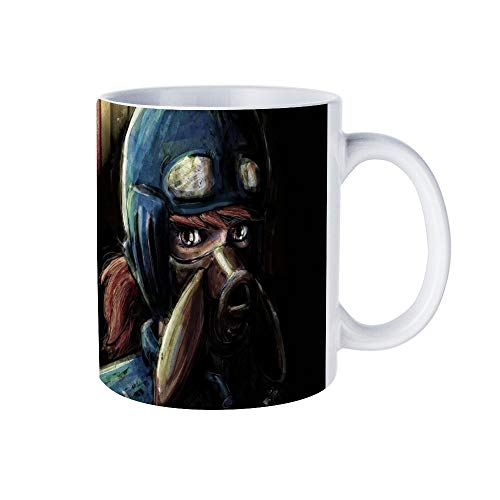 WONFAN Nausicaa Valley Of The Wind Anime Tra Digital Painting Home Ceramic Tea Cup Office Coffee Mug 11 Oz (Nausicaa Of The Valley Of The Wind Anime)