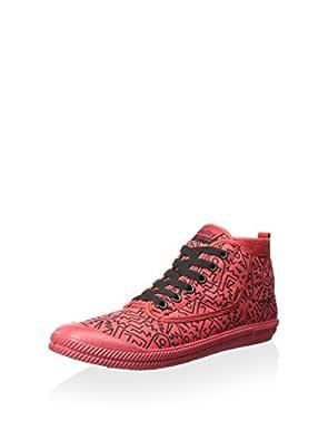 Volley Men's Vol Hi Leap M Gen US Hightop Sneaker, Red/Black Print Black Size: 7