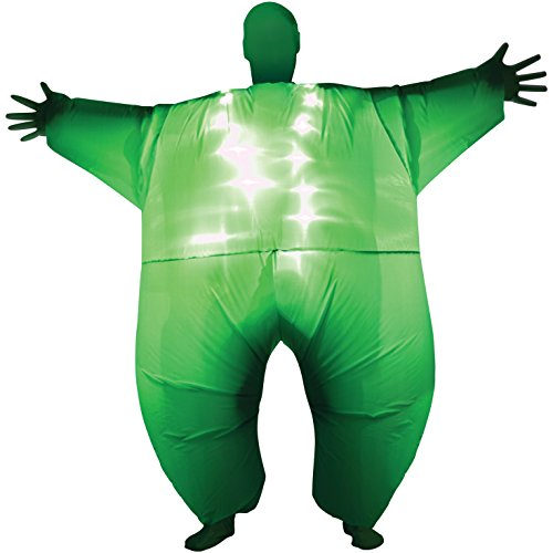 [Green Light-Up Inflatable Megamorph Blow Up Costume - One size fits most] (Mega Morph Suits)