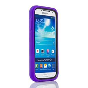 Gadgetsevil 2 in 1 Hybrid TPU Plastic Heavy Duty Armor Case with Stand For Samsung Galaxy S4 SIV I9500 / I9505 / SGH-i337 (Purple)