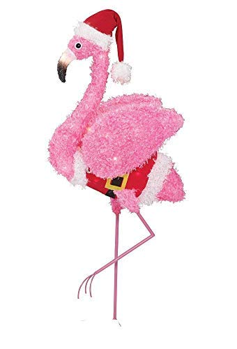 Holiday Time Fluffy Flamingo (Pink Fluffy Flamingo) (Simple)