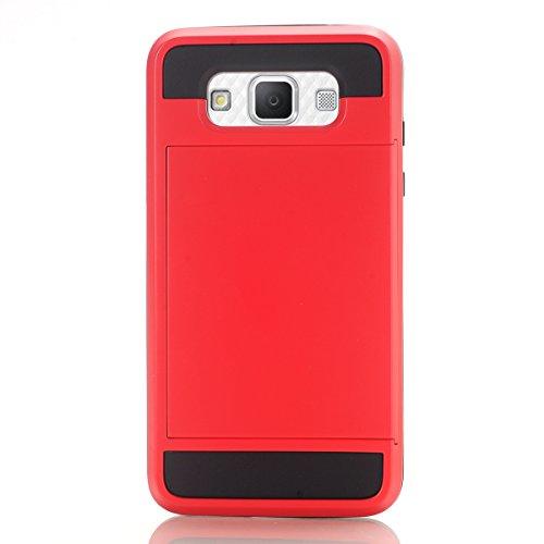 Samsung Galaxy Grand 3 G7200 Funda, adorehouse Billetera Estuche Case [Anti Scratch] [Heavy Duty] [Ranura para tarjetas] Dual Layer Hybrid Rubber Bumper Funda protectora para Samsung Galaxy Grand 3 G7 Verde
