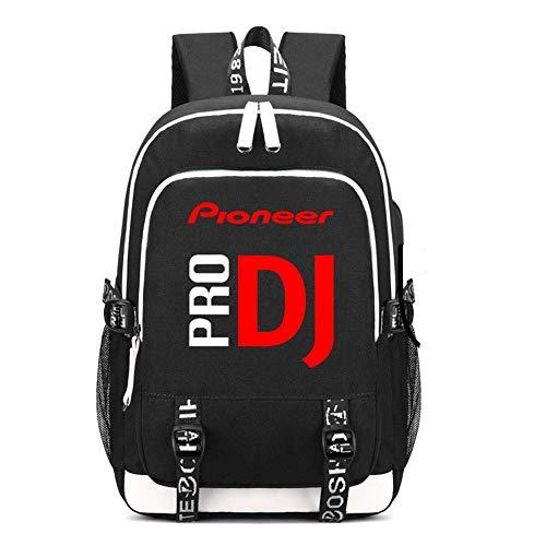 PRO PIONEER DJ Backpack Laptop Bag College Bag Travel BackPack with USB Charging Port