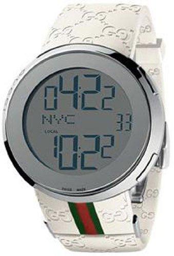 0df69970991 Mens Watch Gucci YA114214 114 White Rubber Strap Digital I-Gucci 114   Amazon.ca  Watches