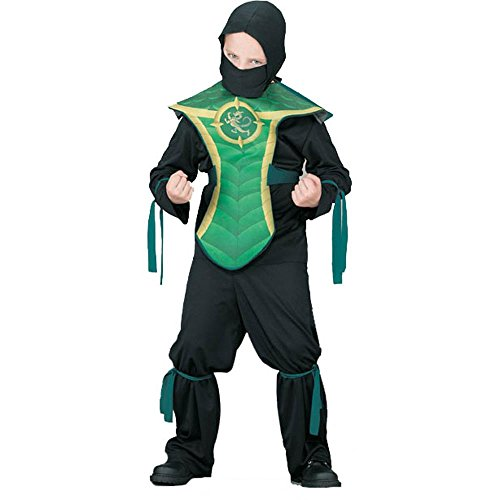 Kid's Jackie Chan Green Dragon Costume (Sz:Sm 4-6)