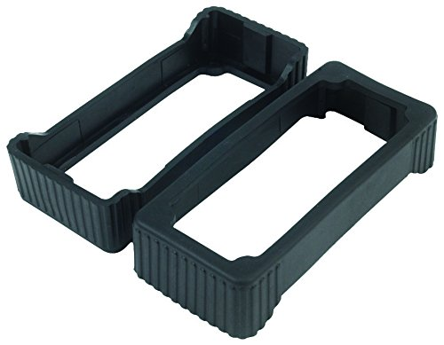 EC1-BK - Protective End Cap, Rubber, Black, BEX Series 1 Extruded Aluminum Enclosures (Pack of 5) (EC1-BK)