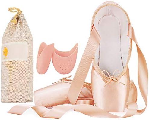 IJONDA Ballet Slipper Pink Adult Toe
