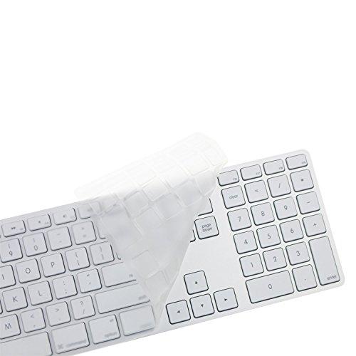 [해외]Bargains Depot 울트라 씬 소프트 TPU 클리어 키보드 실리콘 고무 스킨 커버 프로텍터 (미국 버전) 애플 데스크탑 PC iMac 유선 USB G6 키보드/Bargains Depot Ultra Thin Soft TPU Clear Keyboard Silicone Rubber Skin Cover Protector for ( US V...