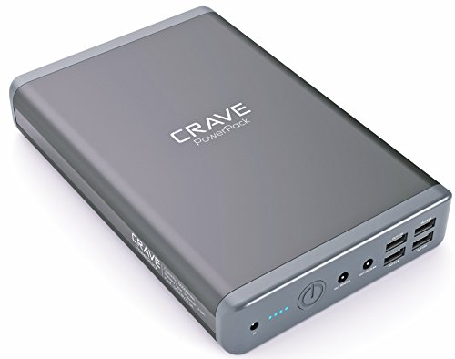 Portable Charger - Crave PowerPack 50000 mAh Dual USB + Dual Laptop Ports Ultra-High Density Power Bank