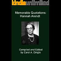 Memorable Quotations: Hannah Arendt