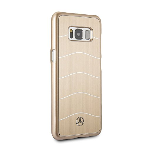 Mercedes-Benz Samsung Galaxy S8 - by CG Mobile - Gold Cell Phone Case Brushed Aluminum | Easily Accessible Ports | Officially - Aluminum Brushed Case