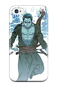 Ultra Slim Fit Hard DanRobertse Case Cover Specially Made For Iphone 4/4s- One Piece Anime Roronoa Zoro