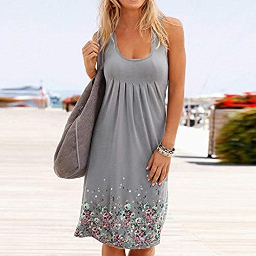 Best Beach overdose da maniche Women grigio Clearance senza Vestito Abbigliamento Party Evening wqHp86Inx