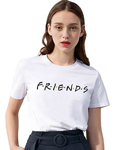 Amazon.com: Womens Funny Shirts Friends TV Show T Shirt Cute Cotton Graphic Teen Girls Tops: Clothing