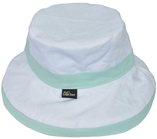 Women's Sun Hat Reversible Bucket Cap UPF 50+ Outdoor Travel Beach Hat Green by Sun Blocker (Image #4)