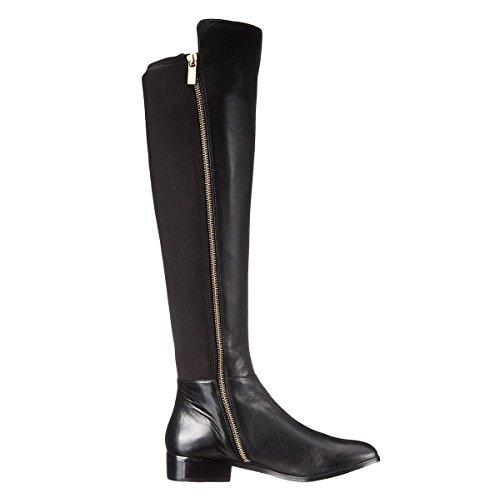 Stiefel Zip Größe 46 Oberschenkel Nacht Westlichen Herbst Elobaby Schwarz 34 Leder Frauen Spitzen hoch ZwBaAqqS5n