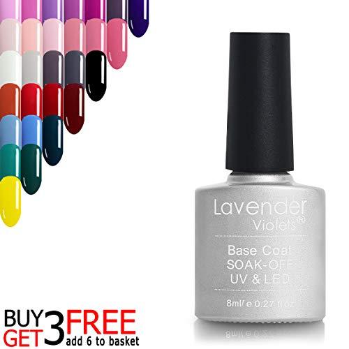 UV LED Gel Base Coat Clear 8ml Best For Gel Manicure Pendicure 101