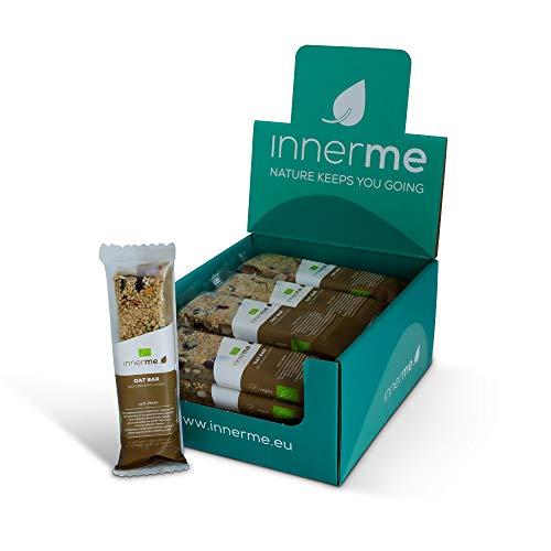 INNERME – Oat Bars 'nuts & seeds' (20x40g) – mueslireep met noten, zaden, haver, boekweit – glutenvrij – knapperig…