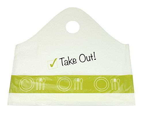 "986c3cc8e56f 500 pc ""Take Out!"" Plastic Carry-Out, To Go Shopping Bags - Buy ..."