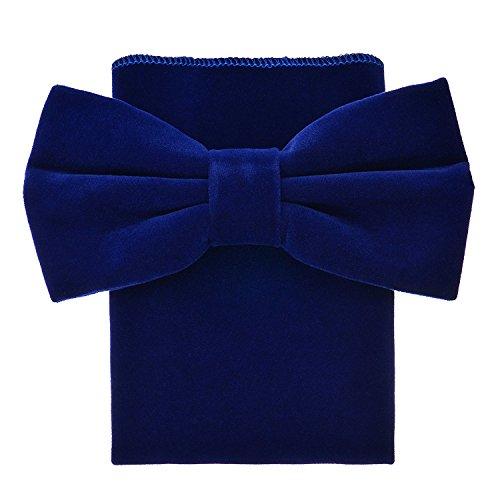 Oliver George Velvet Bow Tie Set (Royal -