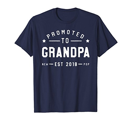 Mens Promoted to Grandpa 2018 T-Shirt - New Grand Pa Father XL ()