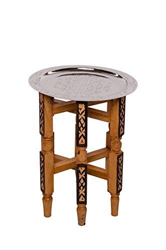 Orient Tisch Iman 40cm Silberfarbig