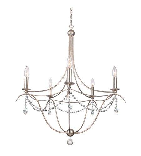 Amazon.com: 5 lámparas de araña con plata envejecida y ...