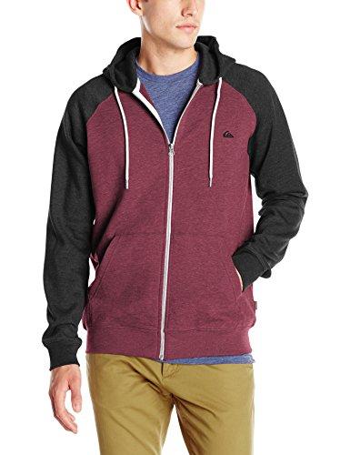 Quiksilver Men's Everyday Zip Hoodie Sweatshirt, Pomegranate, Medium