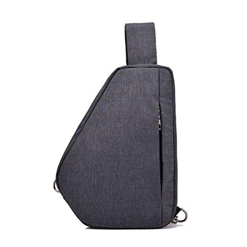 Shoulder Men Women Travel Hiking Backpack Black Lightweight Chest Casual Crossbody Triangle Bag Nylon For Daypack Sling Packs Mingmo Waterproof 0waYtt
