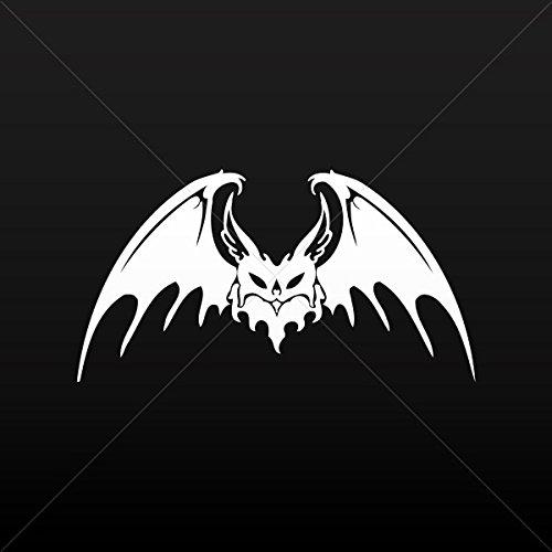 Sticker Tribal Bat Decor Motorbike Bicycle Vehicle ATV car L White (4 X 2.13 Inches)