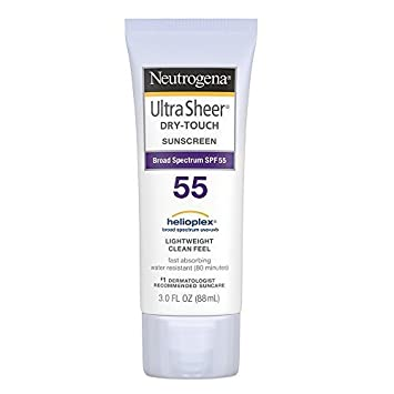 Neutrogena Ultra Sheer Dry-Touch Sunscreen, SPF 55, 3 Ounces Pack of 2