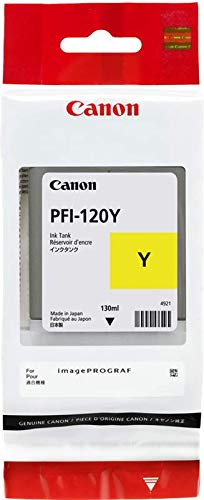 130 Ml Yellow Ink - Canon PFI-120Y Pigment Yellow Ink Tank 130ml by CES Imaging