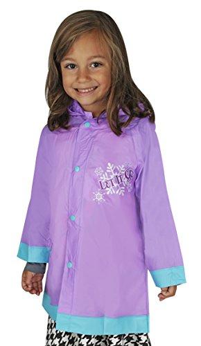 Disney Girl's Frozen Elsa Rain Slicker - 2/3 (Slicker Rain Raincoat)