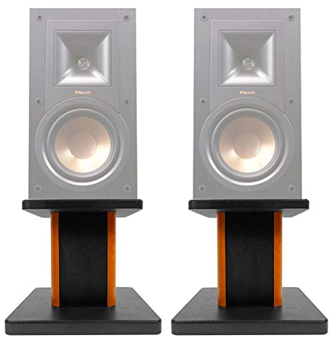 (2) 8″ Wood Bookshelf Speaker Stands for Klipsch R-15PM Bookshelf Speakers