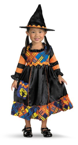 Patchwork Witch Toddler/Child Costume Size 3T-4T