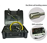 The smallest 29mm self leveling sewer pipe borescope endoscope inspection camera 30m cable