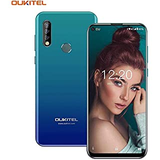 """OUKITEL C17 Pro Unlocked Smartphones 64GB + 4GB RAM Android 9.0 6.35"""" FullView Display 13MP+5MP+2MP Triple Cameras Face Fingerprint Recognition Global Dual 4G LTE GSM Unlocked Cell Phone (Gradient)"""