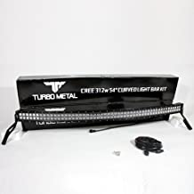 TurboMetal 54 in. Curved LED Light Bar Set & Trucks Roof Top Mounting Brackets for 1999-2015 Ford F250 F350 F450 Super Duty