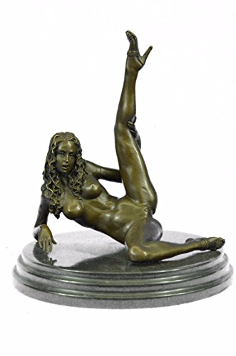 Handmade European Bronze Sculpture Signed Original Mavchi Renowned Italian Artist Nude Naked Woman Bronze Statue -3X-ST-060-Decor Collectible Gift