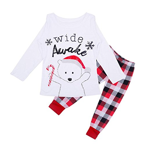 Franterd Daddy Mommy & Me Family Matching Christmas Pajamas Sleepwear Pants Lattice Sets (2T, (Mommy And Me Matching Pajamas)