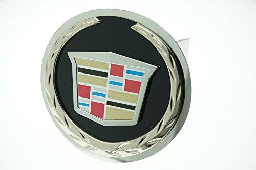 Cadillac Hitch Plug - Cadillac Black Infill Logo Tow Hitch Cover Plug, Lifetime Warranty