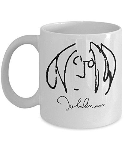 John Lennon (Self Portrait) Mug (White) 11oz John Lennon Mug - John Lennon Coffee Mug - John Lennon Gifts - Beatles Mug - Beatles Coffee Mug - Beatles