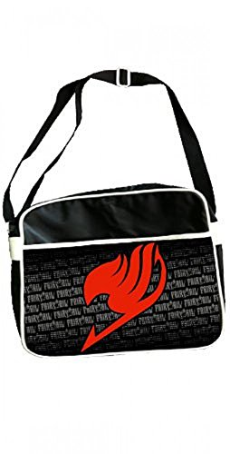 Fairy Tail - Logo Red - Tasche Original 100% Polyester Schwarz Manga | Anime